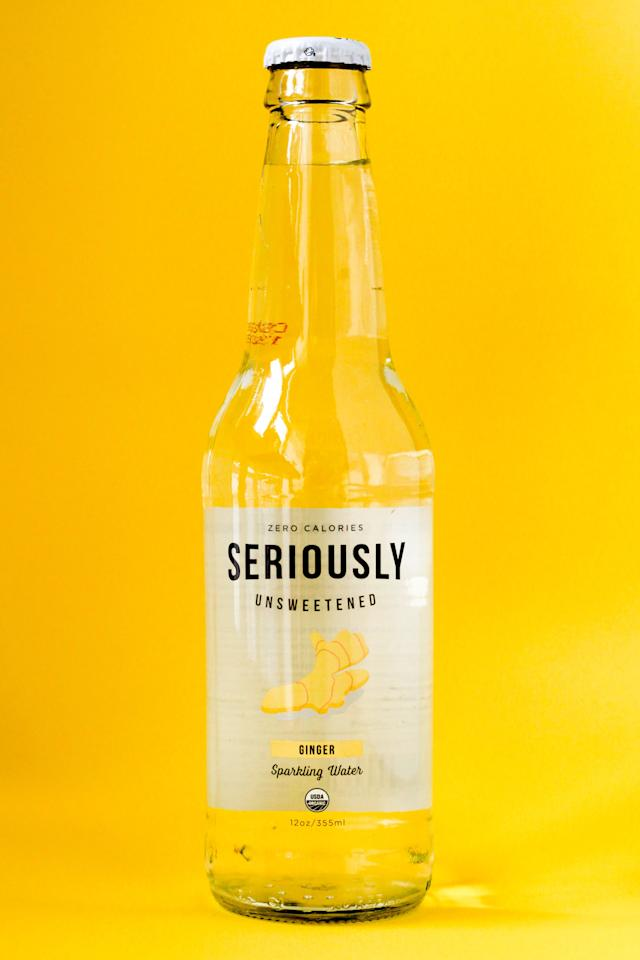 <p>Seriously Unsweetened Ginger is a bit more grown-up tasting than your average seltzer. Perfectly balanced and zingy, it's one of my favorites. </p>