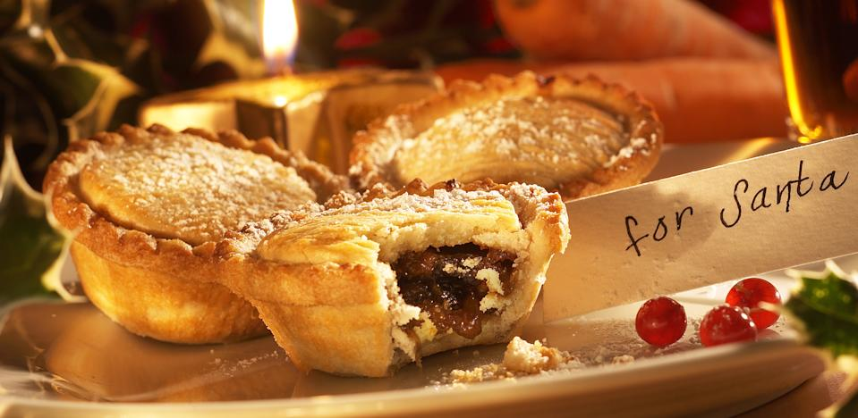 Mince pies are traditionally left out for Santa on Christmas Eve