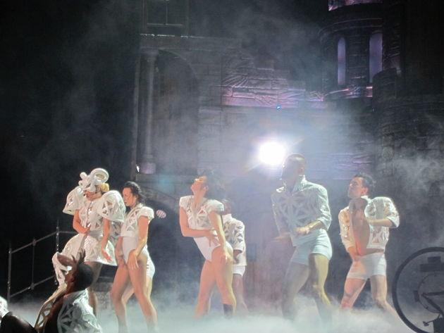 Lady Gaga and her backup dancers took the stage by storm. (Photo courtesy of Vivian Tsui)