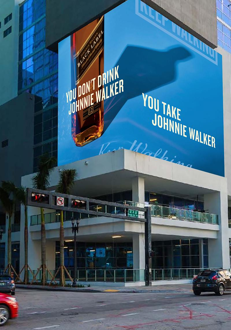 With its eye-catching patterns and brilliant colors, the new Johnnie Walker ad creative will be displayed across U.S.