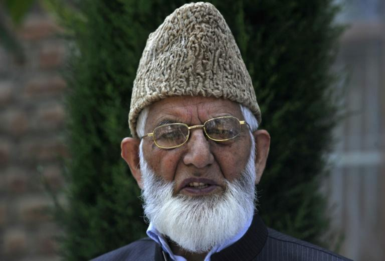 Kashmiri separatist Syed Ali Geelani, shown here in 2012, had spent much of his life either in jail or under house arrest (AFP/Tauseef MUSTAFA)