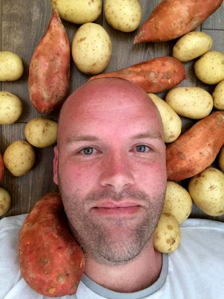 Melbourne resident Andrew Taylor, 35, has made a deliberate decision to eat only potatoes for 12 months (AFP Photo/Andrew Taylor)