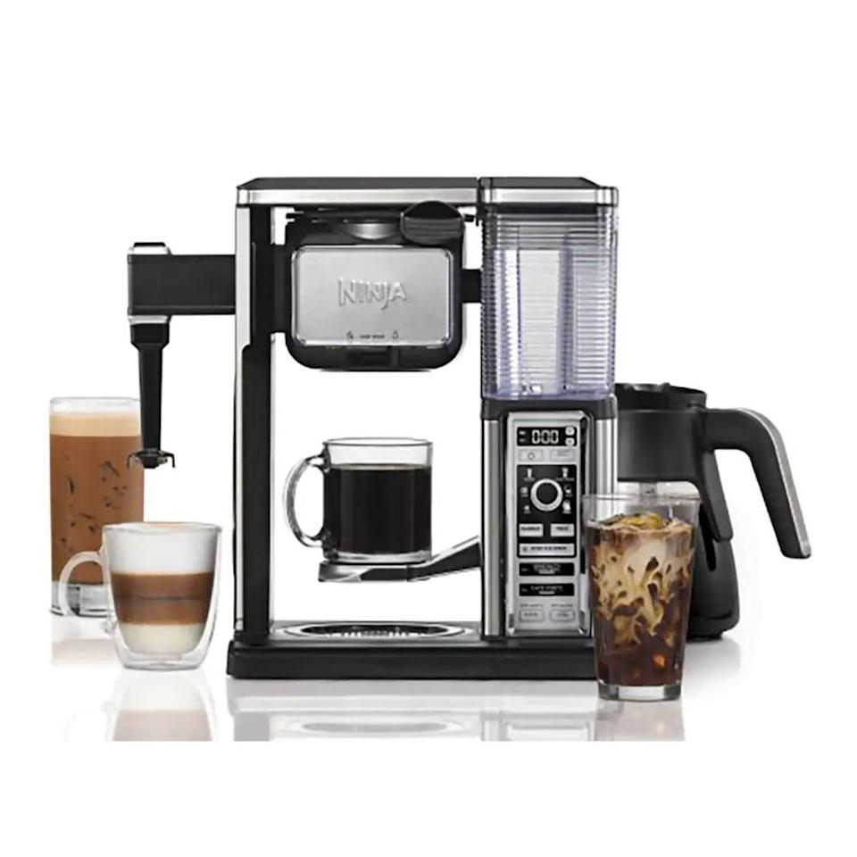 "<p>Bring the coffee bar to your kitchen with this decked out bar system. It includes a pod-free single-serve option for different cup sizes and a built-in frother. The high-tech coffee machine also lets you choose from different brew types for the perfect cup, every time.<br><strong><a href=""https://fave.co/2Ag4x9V"" rel=""nofollow noopener"" target=""_blank"" data-ylk=""slk:SHOP IT"" class=""link rapid-noclick-resp"">SHOP IT</a>: </strong>$180 (was $200), <a href=""https://fave.co/2Ag4x9V"" rel=""nofollow noopener"" target=""_blank"" data-ylk=""slk:kohls.com"" class=""link rapid-noclick-resp"">kohls.com</a> </p>"