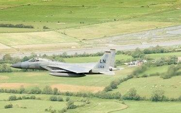 A US Air Force F-15C Eagle like the one pictured crashed around 9.40am