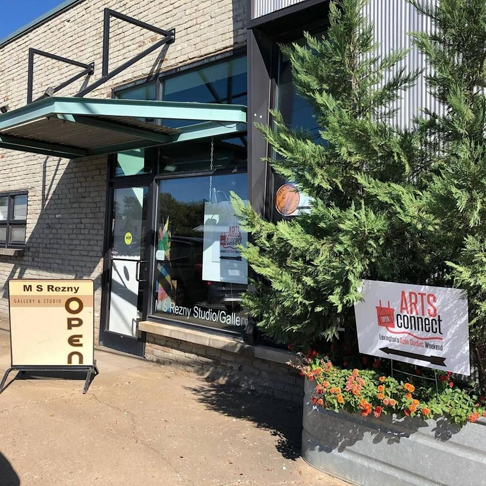 In the past, the now-closed M S Rezny Studio and Gallery has been a location for Arts Connect's annual Open weekend where artists open up their workspaces to the public.