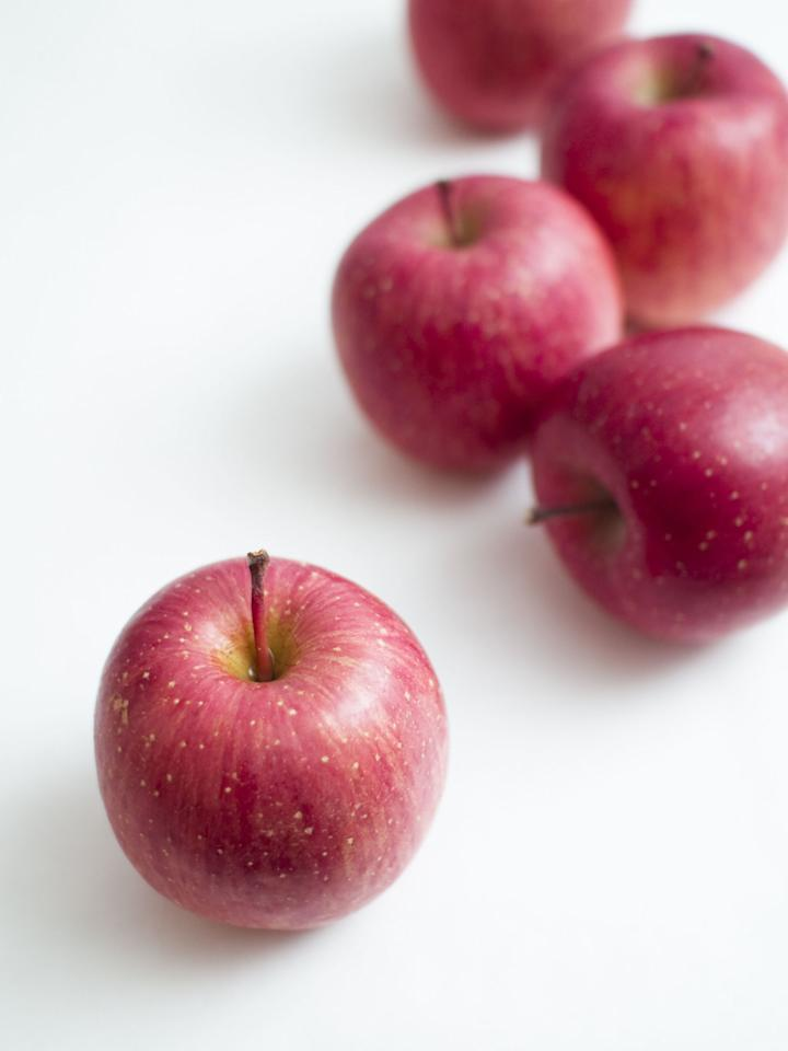 """<p>You've been waiting all year for apple season-pies! ciders! crumbles!-but hold up. If you're buying conventional, you may need to rethink your favorite fall produce, because apples are considered one of the most doused-in-<a rel=""""nofollow"""" href=""""http://www.foxnews.com/health/2011/12/01/7-foods-should-never-eat.html"""">pesticides</a> fruits.  Because they never develop a resistance to pests, they're sprayed extremely frequently, so if you want to enjoy your fresh-baked apple pie free of pesticides, buy organic. (And then go and <a rel=""""nofollow"""" href=""""http://www.delish.com/cooking/g1968/easy-apple-recipes/"""">eat <em>all</em> the apples</a>).</p>"""