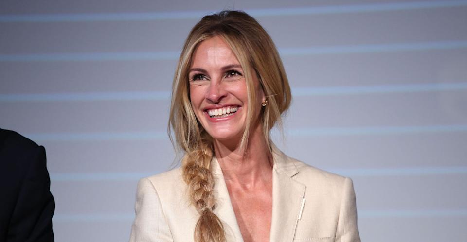 Julia Roberts speaking at Prime Video Presents on October 2nd in London. (Amazon)