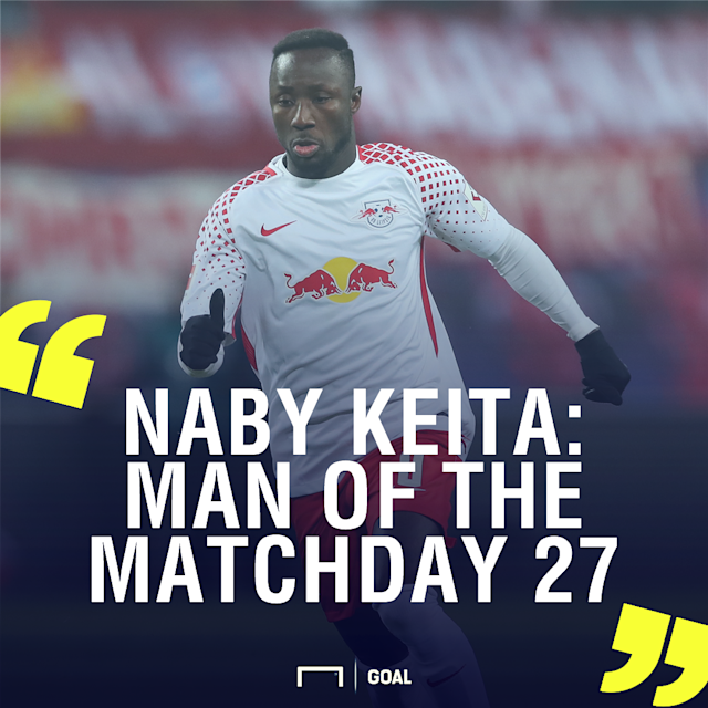 The Guinea international played an outstanding role as his side secured a memorable victory over the Bavarians in Sunday's league tie