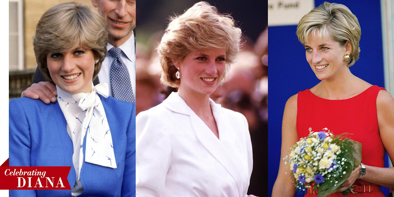 <p>A look back at the late royal's greatest hairstyles. </p>