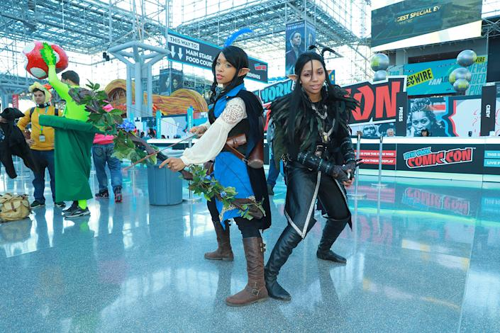 Cosplayers attend the New York Comic Con 2019  at the Jacob Javits Center on Oct. 5, 2019 in New York City. (Photo: Gordon Donovan/Yahoo News)