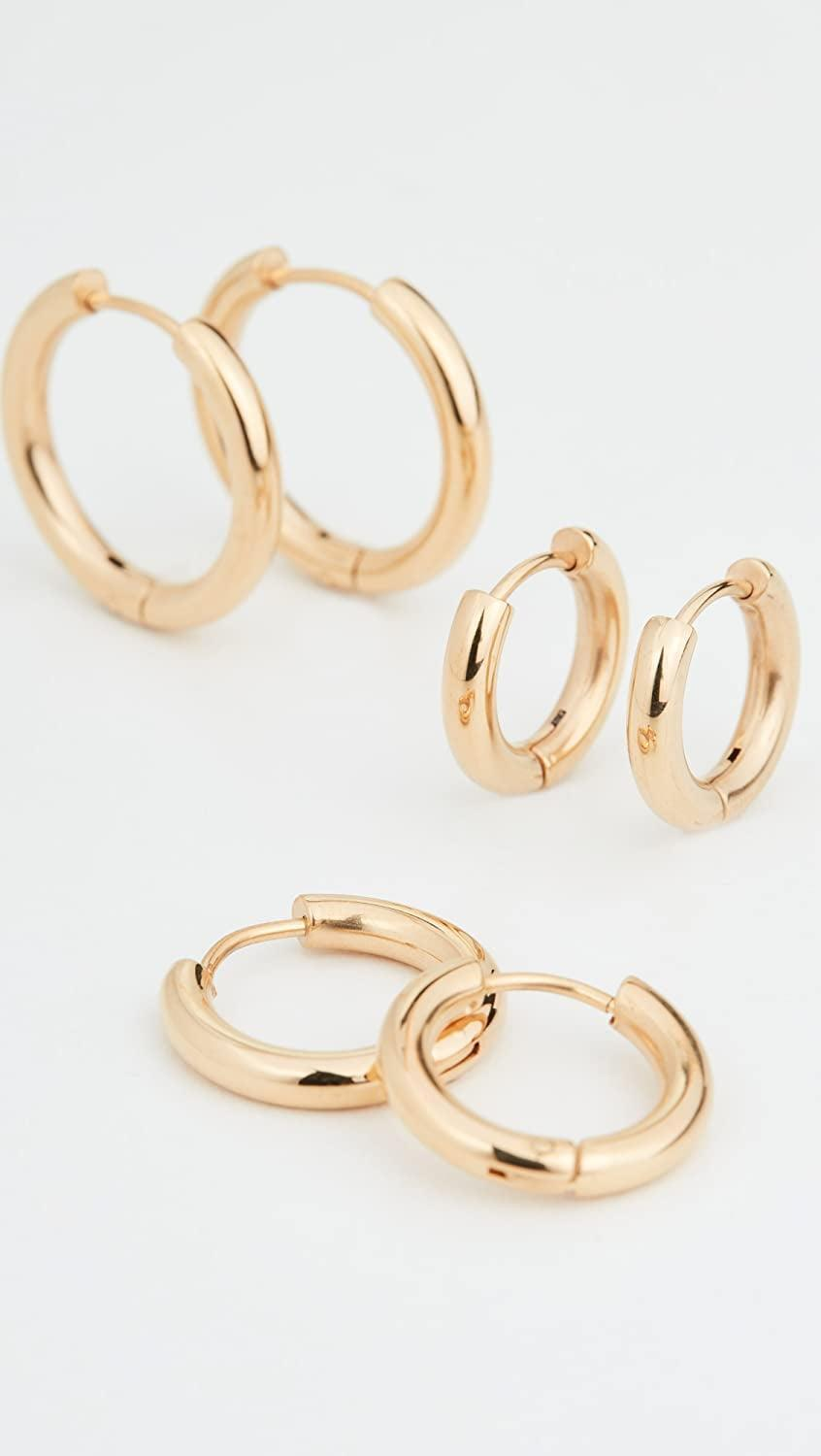 <p>These <span>Shashi Triplès Hoops</span> ($65, originally $68) are a perfect addition to your jewelry collection. They also make for an amazing stocking stuffer this holiday season.</p>