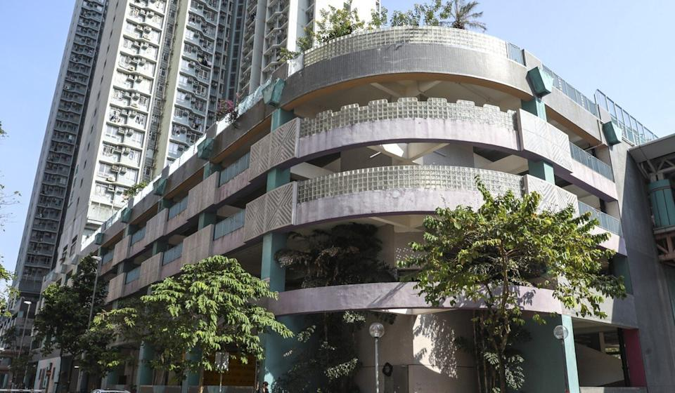 The Sheung Tak Estate car park where the incident occurred. Photo: Dickson Lee