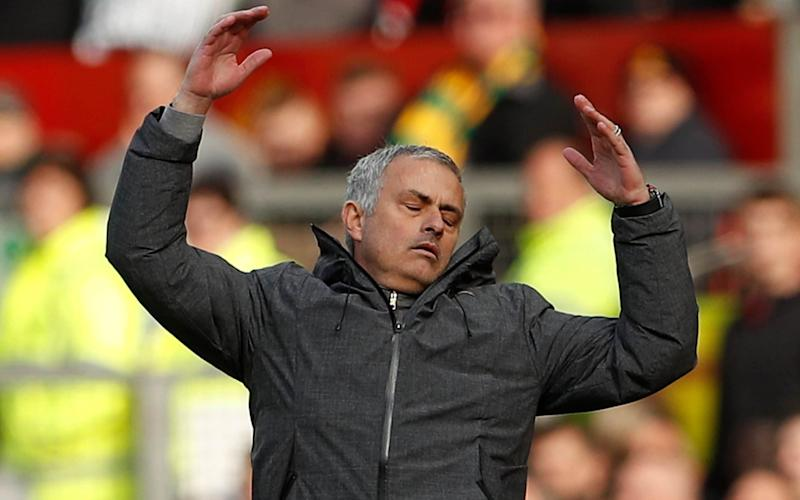 Jose Mourinho shows his frustration - REUTERS