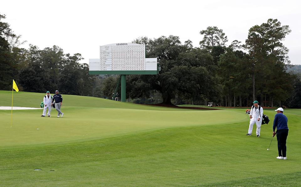It's a quiet Masters thus far in 2020. (Photo by Jamie Squire/Getty Images)