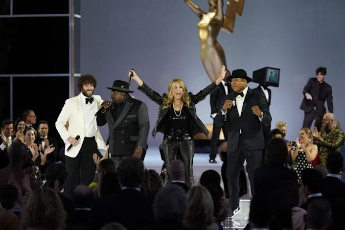 Cedric rhe Entertainer, Rita Wilson and LL Cool J appear at the 73RD EMMY AWARDS
