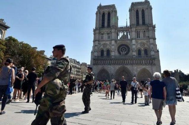 One of the women had sworn allegiance to IS in a letter found in her handbag. Picture: AFP