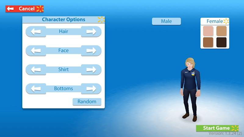 Spark City users can create their own avatar to learn about the Walmart department manager role.