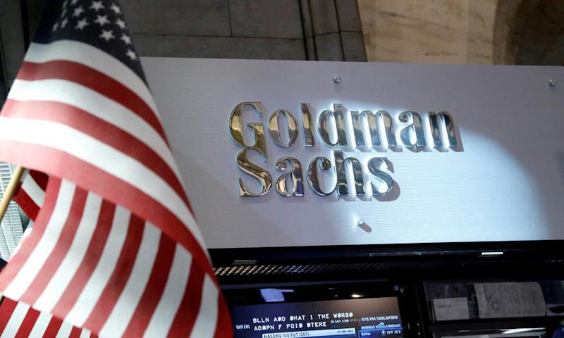 Goldman is the second bank to announce a one-time hit from the tax readjustment.