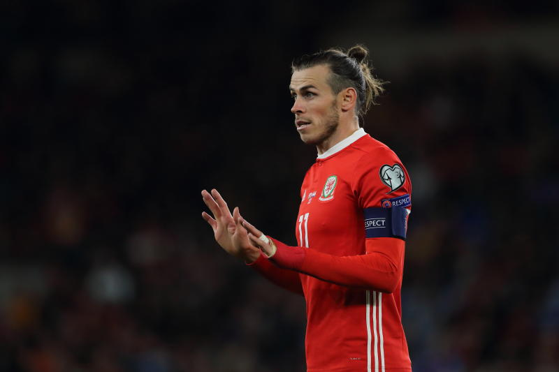 CARDIFF, WALES - OCTOBER 13: Gareth Bale of Wales during the UEFA Euro 2020 qualifier between Wales and Croatia at Cardiff City Stadium on October 13, 2019 in Cardiff, Wales. (Photo by Matthew Ashton - AMA/Getty Images)