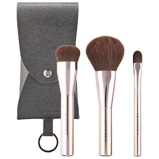 """<p><strong>Sephora Collection</strong></p><p>sephora.com</p><p><strong>$25.00</strong></p><p><a href=""""https://go.redirectingat.com?id=74968X1596630&url=https%3A%2F%2Fwww.sephora.com%2Fproduct%2Ftouch-up-face-brush-set-P444031&sref=https%3A%2F%2Fwww.womansday.com%2Frelationships%2Ffamily-friends%2Fg1123%2Fcheap-mothers-day-gifts%2F"""" rel=""""nofollow noopener"""" target=""""_blank"""" data-ylk=""""slk:SHOP NOW"""" class=""""link rapid-noclick-resp"""">SHOP NOW</a></p><p>This set of three travel makeup brushes come with its own keyring pouch for easy storage and transport. </p>"""