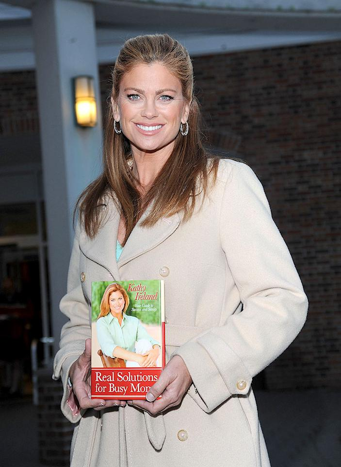 "After packing 25 pounds onto her famous figure, Kathy Ireland decided it was time to get her body back under control. The 46-year-old supermodel documented her weight gain (and loss) in her new book. Bobby Bank/<a href=""http://www.wireimage.com"" target=""new"">WireImage.com</a> - April 8, 2009"