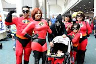 <p>Cosplayers dressed as characters from <em>The Incredibles </em>at Comic-Con International on July 20 in San Diego. (Photo: Angela Kim/Yahoo Entertainment) </p>