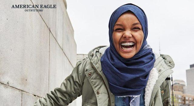 Halima Aden is a model for American Eagle's latest ad campaign. (Photo: American Eagle)