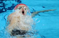 <p>Luke Greenbank of Team Great Britain competes in the Men's 200m Backstroke Semifinal on day six of the Tokyo 2020 Olympic Games at Tokyo Aquatics Centre on July 29, 2021 in Tokyo, Japan. (Photo by Alexander Hassenstein/Getty Images)</p>
