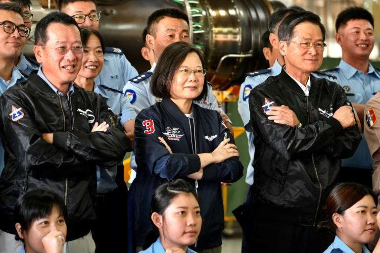 Tsai defiant as Taiwan's anti-China jet flights double