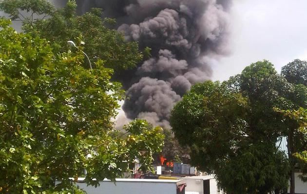Fire at Jurong industrial estate