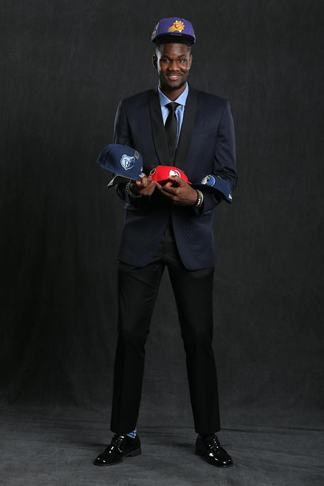 CHICAGO, IL - MAY 15: NBA Draft Prospect, DeAndre Ayton poses for a portrait before the NBA Draft Lottery on May 15, 2018 at The Palmer House Hilton in Chicago, Illinois. (Photo by David Sherman/NBAE via Getty Images)