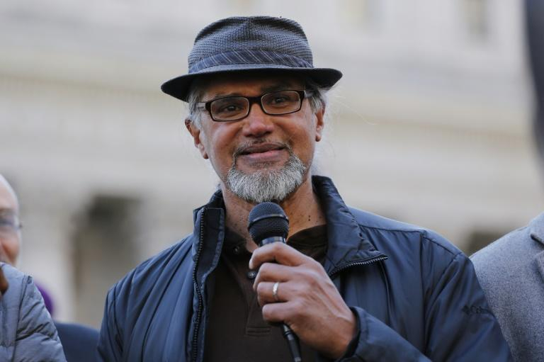 Ravi Ragbir, the director of the New Sanctuary Coalition, speaks at a rally to show solidarity with the countless individuals affected by deportation, March 9, 2017 in New York