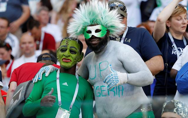 "4:03PM 3 mins Sigurdsson (of the Gylfi variety), fires at goal. There's not a great deal of pace behind it and Uzoho should catch it, but he decides to parry over the bar. He does catch the resulting corner well, though. 4:02PM 2 mins - Nigeria 0 Iceland 0 Early throw in for Iceland and Gunnarsson jogs across to launch it into the box. It's cleared, and under a high ball on the edge of the box Arnason claims a push - and almost catches the ball! The ref agrees with him though, and it's an Iceland free kick 30 yards from goal. 4:00PM Kick off Nigeria get us under way. Game on. 3:59PM A message from the referee At the toss, it's possible to hear the Kiwi referee instruct both captains: ""Fair play, and watch the holding."" 3:58PM Anthem time A (very) significant portion of Iceland's 338,000 people are inside the stadium in Volgograd, and they are making a decent din. 3:52PM Permutations If Iceland win, they will be one point away from the second round and Nigeria will be out. Argentina will be very, very close to elimination. Draw and all three teams mentioned about will remain within one point of each other, with everything to play for in the final game. If Nigeria win they will jump above Iceland into second place in Group D. All three will still be in with a chance of qualifying for the second round. 3:48PM Huh? Iceland fans inside the stadium Credit: Getty images 3:35PM The kit we've all been waiting to see Nigeria will play in this jazzy number tonight, and everyone loves it. Credit: getty images Almost everyone, I should say. Here's Thom Gibbs ranking the World Cup kits. Let's just say he's not a fan. World Cup kits ranked 3:23PM DROPPED Arsenal man Alex Iwobi had a quiet game in Nigeria's opener against Croatia and hasn't made the starting lineup today. I'm sure we'll see something of him later, though. No Alex Iwobi today Credit: Getty images 3:11PM Some pre-match VAR fun test - do not delete 3:04PM Ch, ch, ch, chaaaanges Iceland Gone from 4-4-1-1 to two up front, with striker Bodvarsson coming in for centre-mid Hallfredsson Gislason also replaces Burnley's Joey Gudmundsson on the right side of midfield. Team in full (4-4-2): Halldorsson; Saevarsson, Arnason, R Sigurdsson, Magnusson; Gislason, G Sigurdsson, Gunnarsson, Bjarnason; Finnbogason, Bodvarsson Nigeria Omeruo comes in for Shehu at right-back, Ahmed Musa replaces Alex Iwobi, and Iheanacho in comes in for Ighalo up front. Team in full (3-5-2): Uzoho; Omeruo, Ekong, Balogun; Moses, Ndidi, Mikel, Etebo, Moses; Musa, Iheanacho 2:54PM The teams are in �� This is how we start the game against Nigeria.#fyririslandpic.twitter.com/pDAn99SxMF— Knattspyrnusambandið (@footballiceland) June 22, 2018 .@NGSuperEagles XI vs #Iceland#SoarSuperEagles#NGA#WorldCup#NGAISLpic.twitter.com/zFRfmXH5TL— ���� Super Eagles (@NGSuperEagles) June 22, 2018 2:46PM Pre-match predictions Have a go on our forecaster to see who will come out on top today after you've given extra weight to the factors you consider most important. World Cup 2018 Simulator Single Game I've gone for 1-0 to Iceland in the office World Cup predictions game. It's probably also worth me pointing out that I haven't got a single correct score right so far in the entire competition. So, put all your money on a Nigeria win*. [*Don't actually do this.] 2:31PM What an opportunity Group D was very early on dubbed the 2018 World Cup's 'Group of Death', but who could have predicted it would be Argentina whose hopes would be all-but killed off at this early stage? A 1-1 draw with Iceland last Saturday was followed by defeat to Croatia last night to leave the group looking mightily open at the halfway stage: And so, Iceland versus Nigeria now takes on a whole lot more significance than we would have expected. The Scandanvians, so impressive in beating England at Euro 2016 and taking a point off Argentina, can almost subject Lionel Messi and co. to elimination if they win today. Three points against Nigeria would leave them needing only a point against Croatia next week to progress. And these two teams' performances in their first game give every reason to believe that an Iceland win is the most likely result. I was really impressed by them against Argentina. Not only their endeavour, work rate, aggression and togetherness, but going forward they showed real quality and composure in the final third. Nigeria, on the other hand, are just so clearly lacking in creativity that I am struggling to see how they will break Iceland down. Against England in their World Cup warm-up friendly, they looked lost for most of the game, and they never really got going against Croatia, either. Victor Moses and Alex Iwobi play out wide, but both need a ball-playing midfielder to find them in space for them to work their magic at club level. They simply aren't creative enough on their own. Then there's the fact that John Obi Mikel is still their No 10. Something is not right."