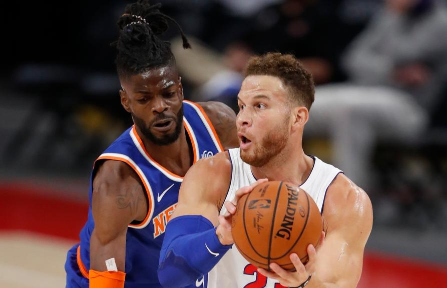 Knicks' Nerlens Noel vs. Pistons in preseason