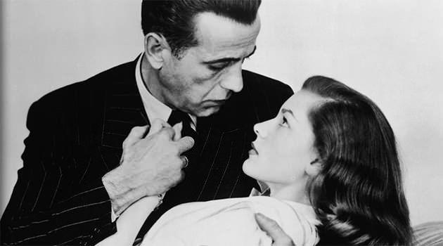 Picture with Humphrey Bogart. Photo: Getty