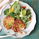 """<p>You probably have most of the ingredients on hand for these simple, elegant crab cakes; just make a quick run to the seafood market for fresh lump crabmeat. Toss together a bright, seasonal salad while the crab cakes chill.</p> <p><a href=""""https://www.myrecipes.com/recipe/best-ever-crab-cakes"""" rel=""""nofollow noopener"""" target=""""_blank"""" data-ylk=""""slk:The Best-Ever Crab Cakes Recipe"""" class=""""link rapid-noclick-resp"""">The Best-Ever Crab Cakes Recipe</a></p>"""