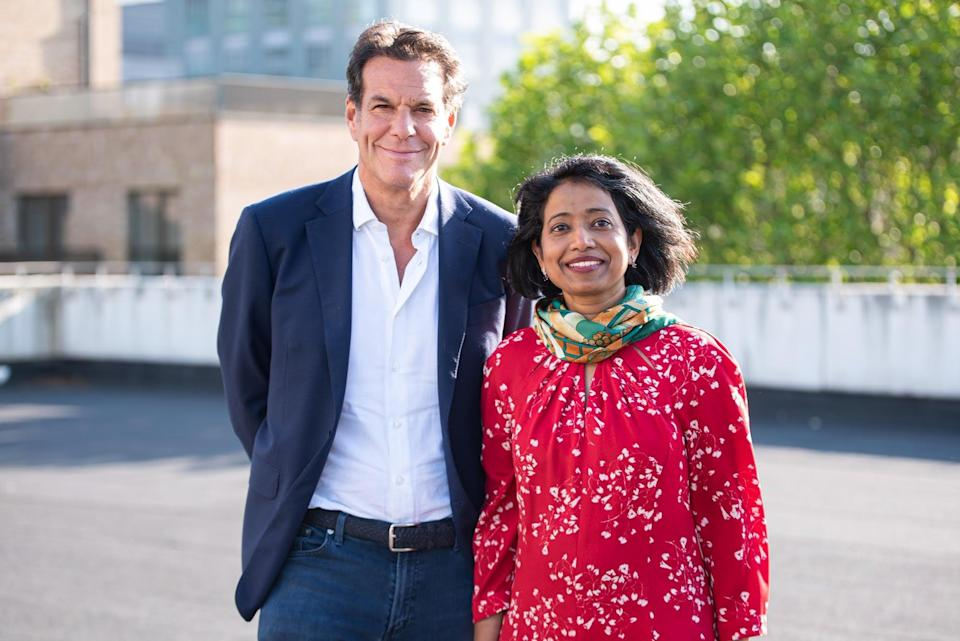 <p>01 Founders co-founder Brent Hoberman and CEO Joysy John</p> (01Founders)