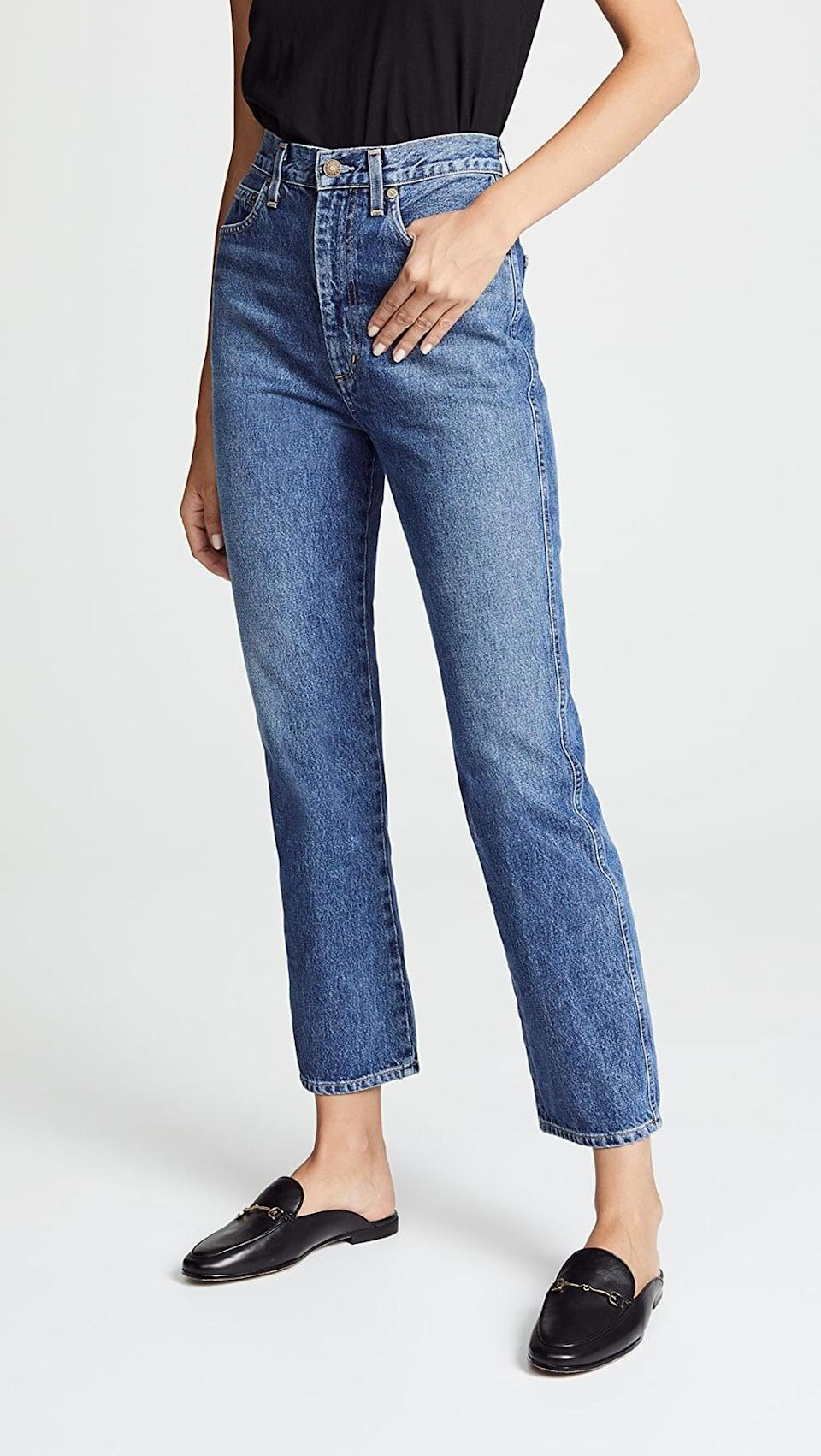 <p>What's not to love about these <span>Agolde Pinch Waist High Rise Kick Jeans</span> ($178)? They fit like they were custom made, yet they are easy to move in.</p>