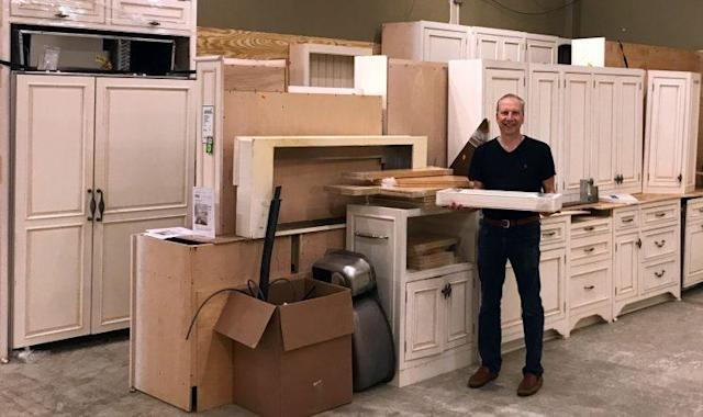 Founder Steve Feldman shows off a kitchen ready for a new life.