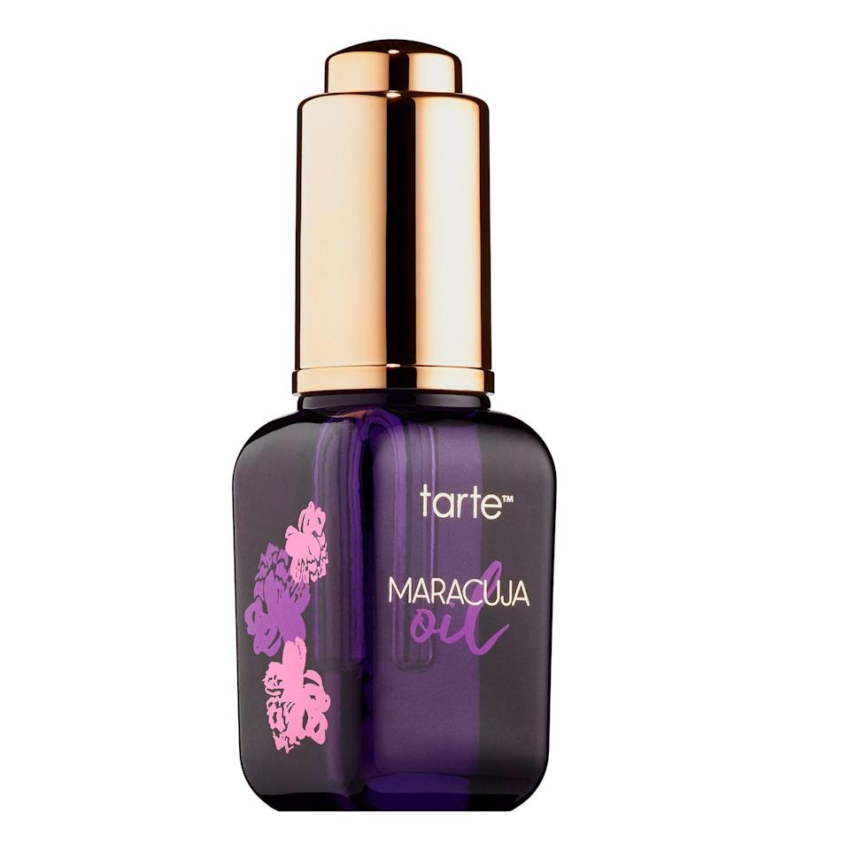 """<p><strong>Tarte</strong></p><p>sephora.com</p><p><strong>$48.00</strong></p><p><a href=""""https://go.redirectingat.com?id=74968X1596630&url=https%3A%2F%2Fwww.sephora.com%2Fproduct%2Fpure-maracuja-oil-P376726&sref=https%3A%2F%2Fwww.harpersbazaar.com%2Fbeauty%2Fmakeup%2Fg34670724%2Fsephora-black-friday-deals-2020%2F"""" rel=""""nofollow noopener"""" target=""""_blank"""" data-ylk=""""slk:Shop Now"""" class=""""link rapid-noclick-resp"""">Shop Now</a></p><p>There's no telling yet which Tarte products will be on sale soon, though if we had our pick, this all-occasion facial oil would be on the list. Its simple ingredient list and multipurpose usage win it so many points. </p>"""