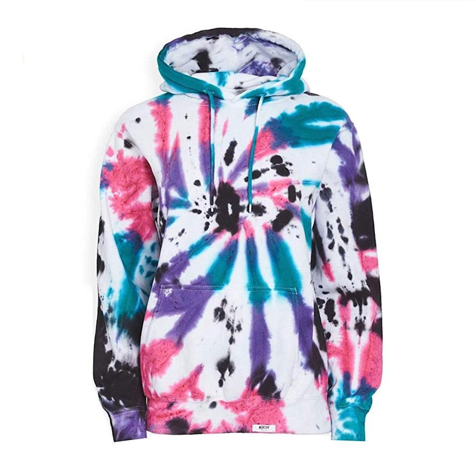 "Every fall wardrobe needs a cozy tie-dye hoodie. Don't fight us on this. $192, Amazon. <a href=""https://www.amazon.com/Worthy-Threads-Womens-Hoodie-Purple/dp/B08DP7KFFP"" rel=""nofollow noopener"" target=""_blank"" data-ylk=""slk:Get it now!"" class=""link rapid-noclick-resp"">Get it now!</a>"