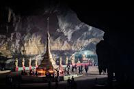 <p>This majestic cave holds a Buddhist temple inside its depths. </p>