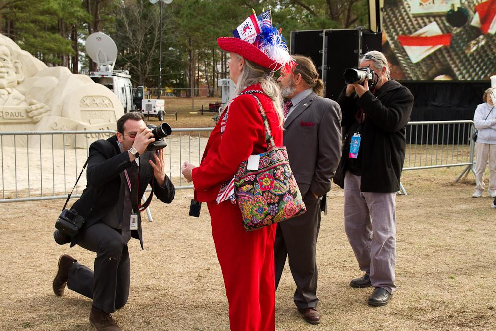 A GOP supporter in Myrtle Beach, South Carolina shows her support via a colorful suit. (Flickr/ Brendan Wright )