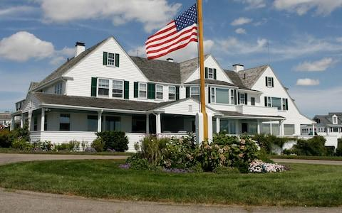The main home in the Kennedy family compound in Hyannis Port - Credit: AP