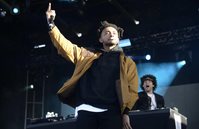 <p>NEW ORLEANS, LA – OCTOBER 29: Amine performs during the 2017 Voodoo Music + Arts Experience at City Park on October 29, 2017 in New Orleans, Louisiana. (Photo by Tim Mosenfelder/Getty Images) </p>