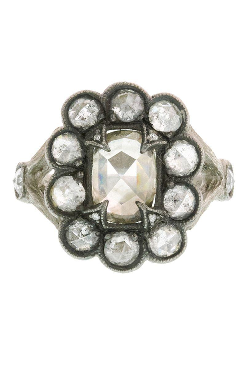 "<p><strong><em>Cathy Waterman </em></strong><em>Unique Grey Moghul Diamond Lace Edge Platinum Ring, $10,800, <a href=""https://www.ylang23.com/"" rel=""nofollow noopener"" target=""_blank"" data-ylk=""slk:ylang23.com"" class=""link rapid-noclick-resp"">ylang23.com</a></em></p><p><a class=""link rapid-noclick-resp"" href=""https://go.redirectingat.com?id=74968X1596630&url=https%3A%2F%2Fwww.ylang23.com%2F&sref=https%3A%2F%2Fwww.harpersbazaar.com%2Fwedding%2Fbridal-fashion%2Fg7427%2Fvintage-engagement-rings%2F"" rel=""nofollow noopener"" target=""_blank"" data-ylk=""slk:SHOP"">SHOP</a></p>"