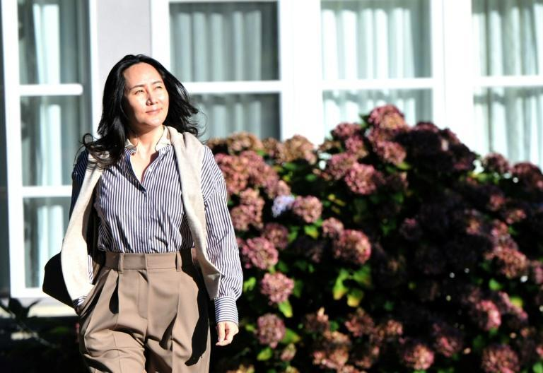 Huawei chief cinancial officer Meng Wanzhou leaves her Vancouver mansion to appear in the British Columbia Supreme Court to fight extradition to the US where she is wanted for alleged bank fraud linked to Iran sanctions