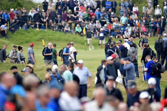 A lovely day for golf at Royal Birkdale. (Getty)
