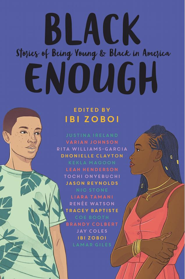 """<p>Edited by National Book Award finalist Ibi Zoboi, <a href=""""https://www.popsugar.com/buy?url=https%3A%2F%2Fwww.amazon.com%2FBlack-Enough-Stories-Being-America-ebook%2Fdp%2FB078LY93MD%2Fref%3Dsr_1_1%3Fs%3Dbooks%26ie%3DUTF8%26qid%3D1549493738%26sr%3D1-1%26keywords%3DBlack%2BEnough%253A%2BStories%2Bof%2BBeing%2BYoung%2B%2526%2BBlack%2BIn%2BAmerica&p_name=%3Cstrong%3EBlack%20Enough%3A%20Stories%20of%20Being%20Young%20%26amp%3B%20Black%20in%20America%3C%2Fstrong%3E&retailer=amazon.com&evar1=buzz%3Aus&evar9=45661327&evar98=https%3A%2F%2Fwww.popsugar.com%2Fphoto-gallery%2F45661327%2Fimage%2F47332969%2FBlack-Enough-Stories-Being-Young-Black-in-America&list1=books%2Cwomen%2Creading%2Cblack%20history%20month%2Cbest%20of%202019%2Cblack%20women&prop13=api&pdata=1"""" rel=""""nofollow"""" data-shoppable-link=""""1"""" target=""""_blank"""" class=""""ga-track"""" data-ga-category=""""Related"""" data-ga-label=""""https://www.amazon.com/Black-Enough-Stories-Being-America-ebook/dp/B078LY93MD/ref=sr_1_1?s=books&amp;ie=UTF8&amp;qid=1549493738&amp;sr=1-1&amp;keywords=Black+Enough%3A+Stories+of+Being+Young+%26+Black+In+America"""" data-ga-action=""""In-Line Links""""><strong>Black Enough: Stories of Being Young &amp; Black in America</strong></a> is a collection of stories by some of the most celebrated authors writing about teens today. The collection covers a wide range of topics, from classism to sexuality and everything in between.</p>"""