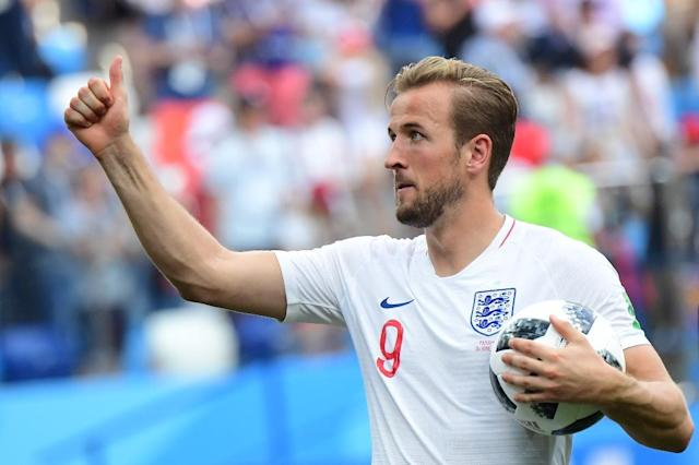 Captain Kane scored England's first World Cup hat-trick since Gary Lineker against Poland in 1986 (AFP Photo/Martin BERNETTI)